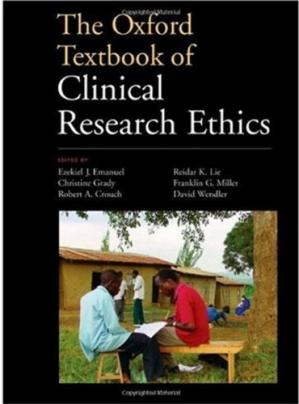 A capa do livro The Oxford Textbook of Clinical Research Ethics