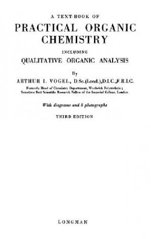 Book cover A Text-Book of Practical Organic Chemistry Including Qualitative Organic Analysis