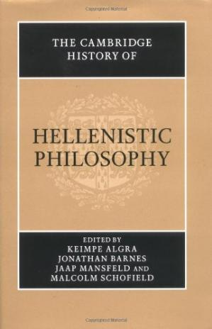 Book cover The Cambridge History of Hellenistic Philosophy
