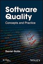 Book cover Software quality : concepts and practice