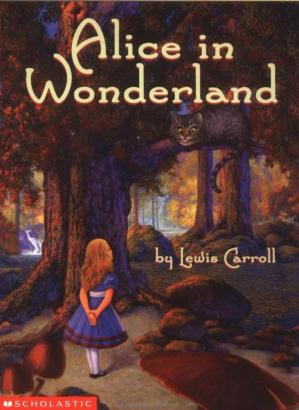 Book cover Alice in Wonderland
