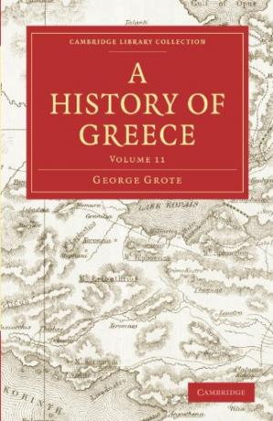 Book cover A History of Greece, Volume 11 of 12, originally published in 1853