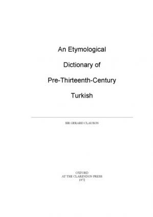 Book cover An Etymological Dictionary of Pre-13th Century Turkish