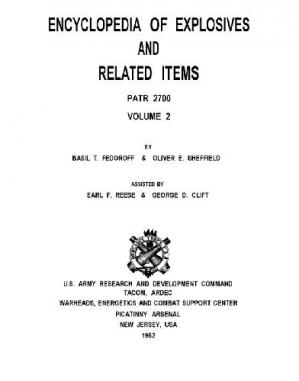Couverture du livre Encyclopedia of Explosives and Related Items
