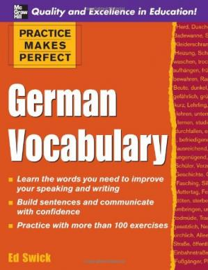 书籍封面 Practice Makes Perfect: German Vocabulary Book