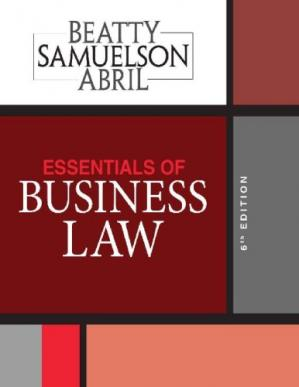 Book cover Essentials of Business Law 6th Edition