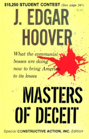 ปกหนังสือ Masters of Deceit: The Story of Communism in America and How to Fight It