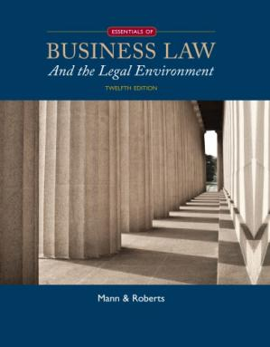 Couverture du livre Essentials of Business Law and the Legal Environment
