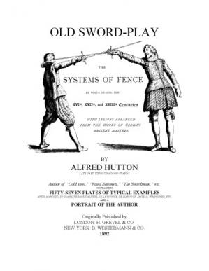 Εξώφυλλο βιβλίου Old swordplay. The systems of fence