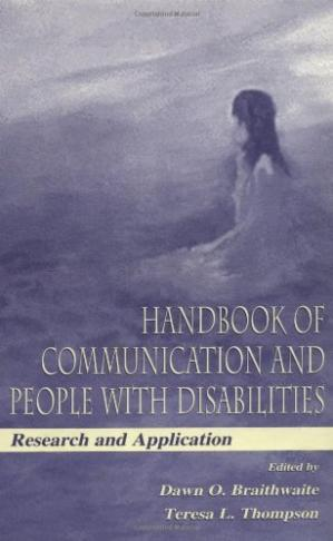 Portada del libro Handbook of communication and people with disabilities: research and application