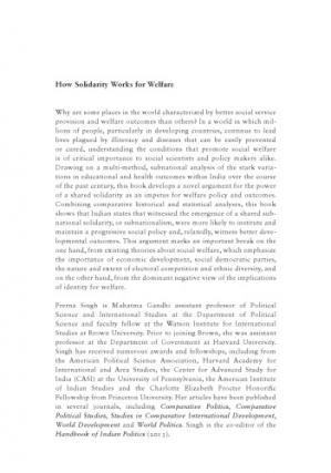 Couverture du livre How Solidarity Works for Welfare: Subnationalism and Social Development in India