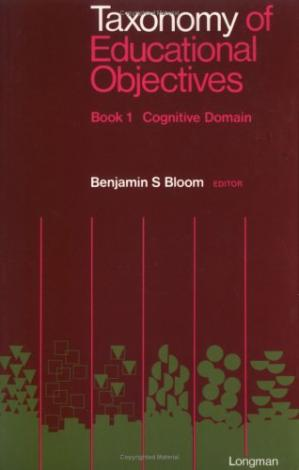 Book cover Taxonomy of Educational Objectives, Handbook 1: Cognitive Domain