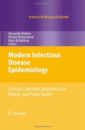 A capa do livro Modern Infectious Disease Epidemiology: Concepts, Methods, Mathematical Models, and Public Health