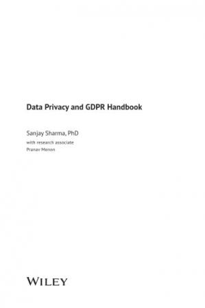 Book cover Data Privacy And GDPR Handbook