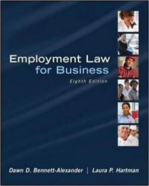 Copertina Employment Law for Business