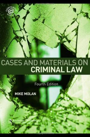 Book cover Cases & Materials on Criminal Law: Fourth Edition