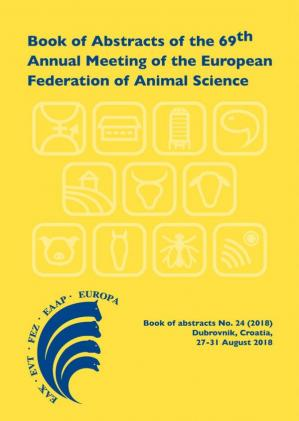 Okładka książki Book of abstracts of the 69th Annual Meeting of the European Federation of Animal Science