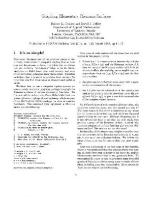 Book cover Graphing Riemann surfaces