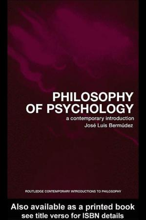 Portada del libro Philosophy of Psychology: A Contemporary Introduction