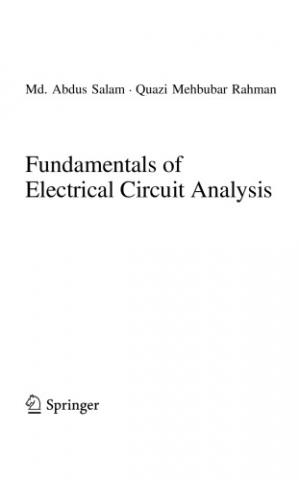 Book cover Fundamentals of Electrical Circuit Analysis