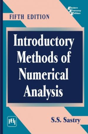 Book cover Introductory methods of numerical analysis