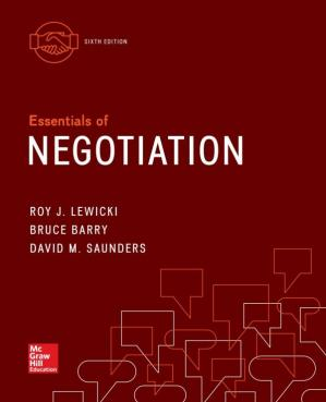 Book cover Essentials of Negotiation