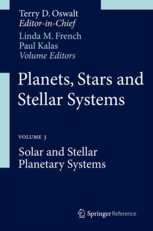 Book cover Planets, stars and stellar systems. / Volume 3, Solar and stellar planetary systems