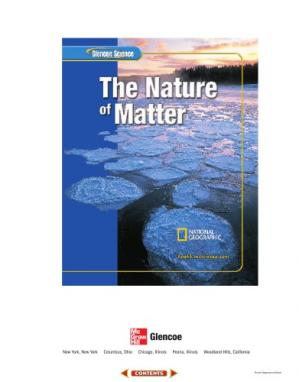 Book cover Glencoe Science: The Nature of Matter, Student Edition