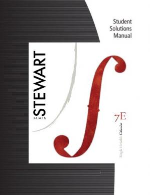 Copertina Student Solutions Manual for Stewart's Single Variable Calculus, 7th