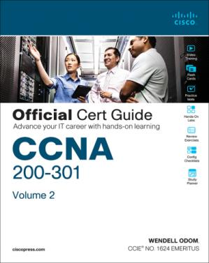 Book cover CCNA 200-301 Official Cert Guide - Volume 2