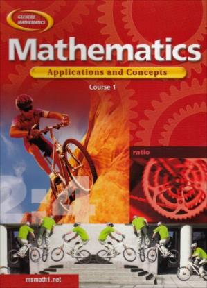 Book cover Mathematics: Applications and Concepts, Course 1, Student Edition (Glencoe Mathematics)