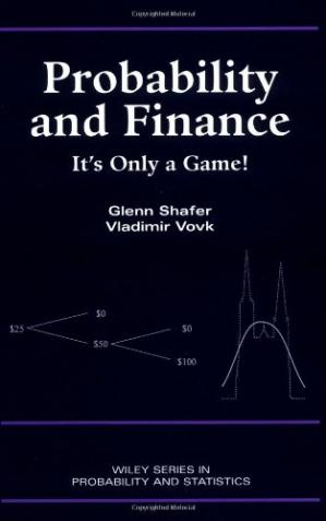 Book cover Probability and Finance It's only a game