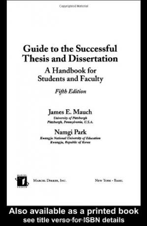 Обложка книги Guide to the Successful Thesis and Dissertation