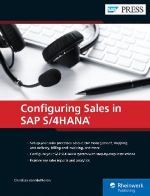 书籍封面 Sales with SAP S/4HANA: Business Processes and Configuration