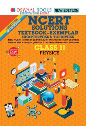 Book cover Oswaal NCERT Solutions Textbook + Exemplar Class 11 Physics for NEET AIPMT IIT JEE Main and Advanced