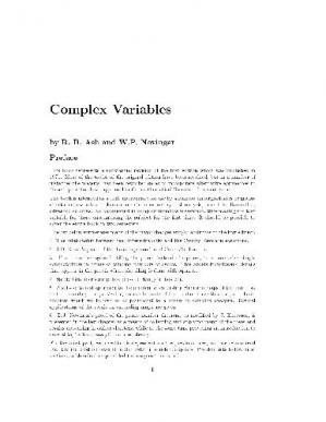 Book cover Complex Variables