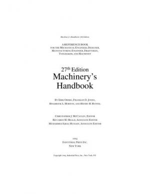 Book cover Machinery's Handbook, 27th Edition (Toolbox Edition)
