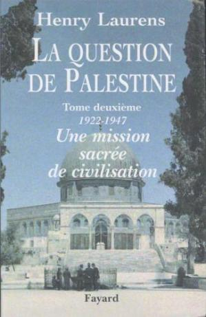 Book cover La question de Palestine T2