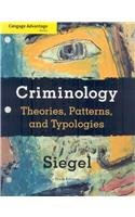 Εξώφυλλο βιβλίου Criminology: Theories, Patterns, and Typologies , Tenth Edition