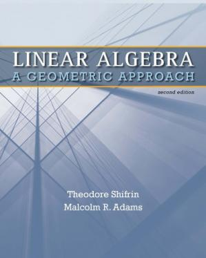 Book cover Linear Algebra. A Geometric Approach