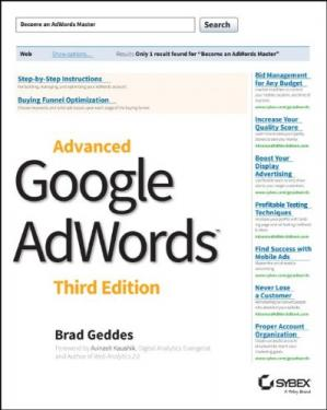 Book cover Advanced Google AdWords