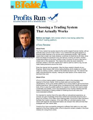 Book cover Choosing A Trading System That Actually Works
