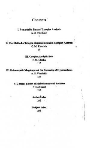 Book cover Several complex variables 01: introduction to complex analysis