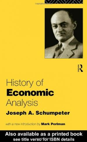 Book cover History of Economic Analysis