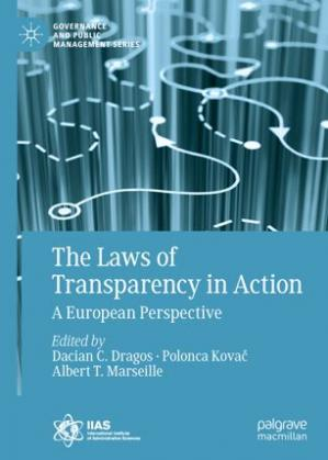 A capa do livro The Laws of Transparency in Action