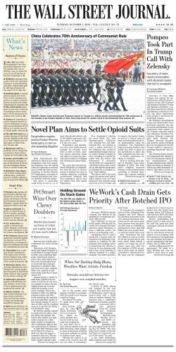 Portada del libro 2019 October First Half - Wall Street Journal (WSJ)