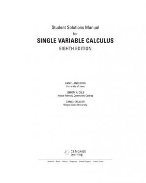 Copertina Student Solutions Manual, Chapters 1-11 for Stewart's Single Variable Calculus, 8th