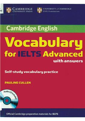 Copertina Cambridge Vocabulary for IELTS Advanced with answers