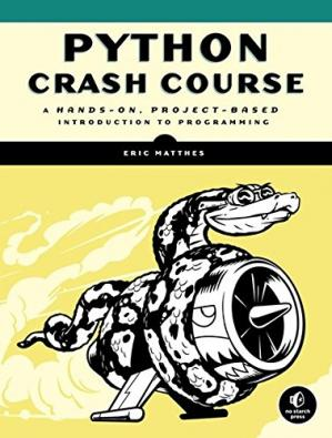 书籍封面 Python Crash Course: A Hands-On, Project-Based Introduction to Programming