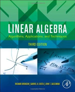 Book cover Linear Algebra. Algorithms, Applications, and Techniques